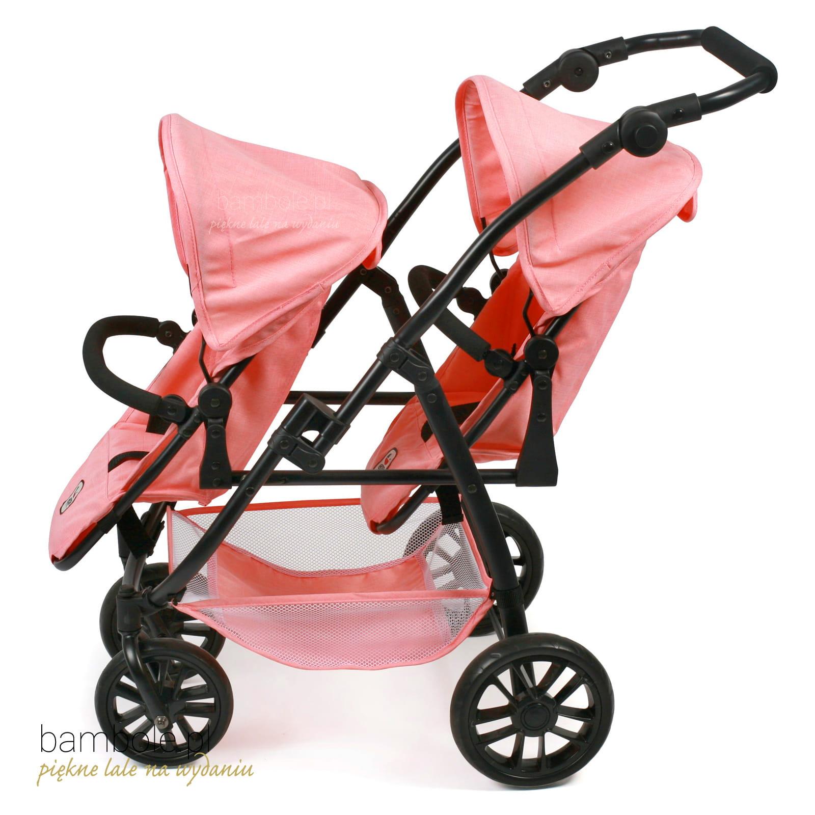 Puppen & Zubehör Babypuppen & Zubehör Bayer Chic 2000 Puppen Tandem-Buggy VARIO Melange Apricot